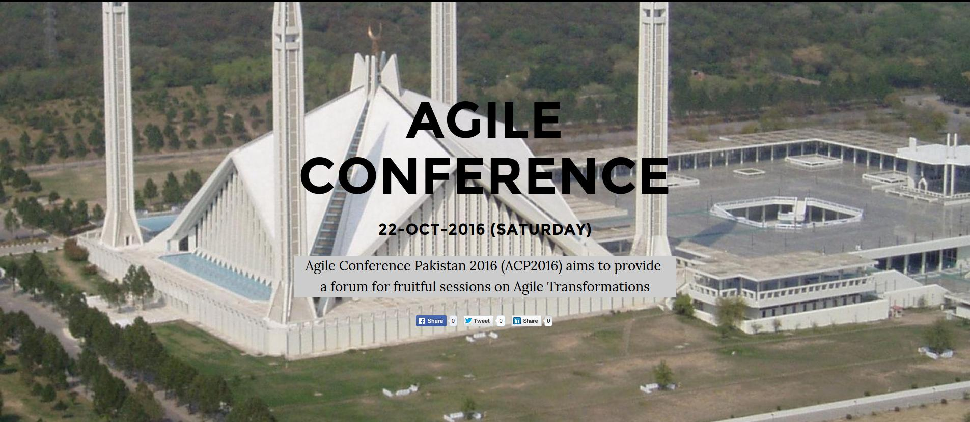ISB:2016-10-22:Agile Conference Pakistan - ACP2016