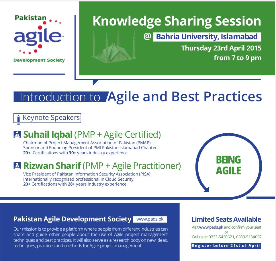 ISB:2015-04-23:1st Knowledge Sharing Session